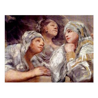 Francisco de Goya - åskådare Vykort