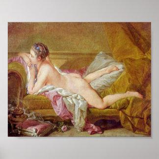 Francois Boucher - älskarinna till Louis XV Poster