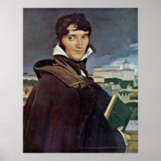 Francois-Marius Granet av Jean Auguste Ingres Poster