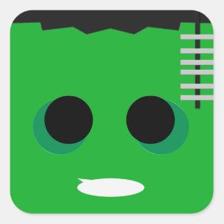 Frankenstein Fyrkantigt Klistermärke
