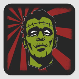 Frankenstein! Fyrkantigt Klistermärke