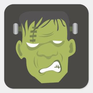 Frankenstein Halloween klistermärkear Fyrkantigt Klistermärke