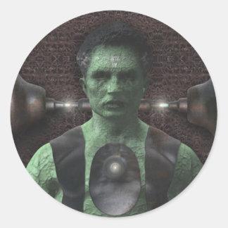 Frankenstein - Halloween klistermärkear Runt Klistermärke