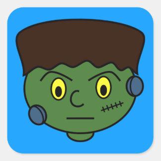 Frankenstein Halloween tecknad Fyrkantigt Klistermärke