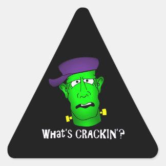 Frankenstein Keychains & väderkorn Triangelformat Klistermärke
