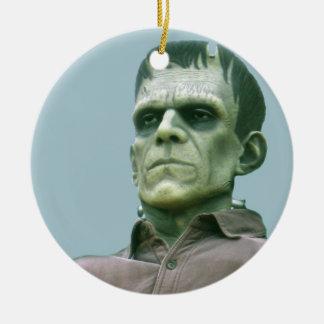 Frankenstein och Azure himmlar - fotografera Rund Julgransprydnad I Keramik