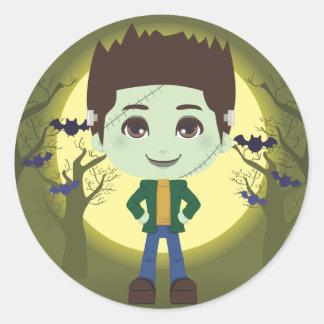 Frankenstein pojke runt klistermärke