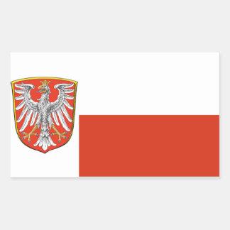 Frankfurt Germany* flaggaklistermärke Rektangulärt Klistermärke
