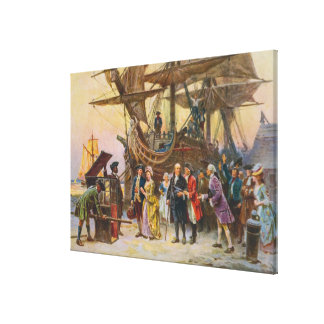 Franklins retur till Philadelphia av Jean Ferris Canvastryck