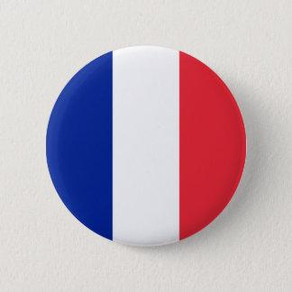 Frankrike flagga standard knapp rund 5.7 cm