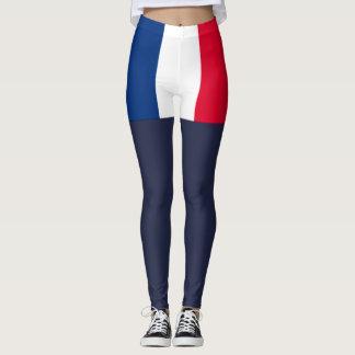 Frankrikeflagga Leggings