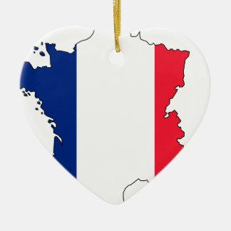 Frankrikeflaggakarta #2 julgransprydnad keramik