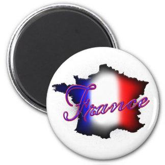 Frankrikemagnet Magnet Rund 5.7 Cm
