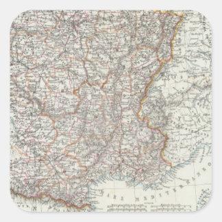 Frankriken 10 fyrkantigt klistermärke