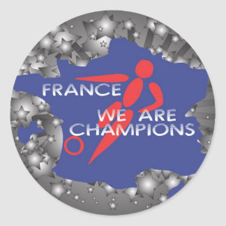 Frankriken 2010 runt klistermärke
