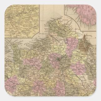Frankriken 28 fyrkantigt klistermärke