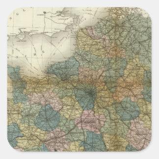 Frankriken 33 fyrkantigt klistermärke