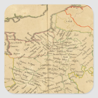 Frankriken 35 fyrkantigt klistermärke