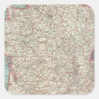 Frankriken 46 fyrkantigt klistermärke