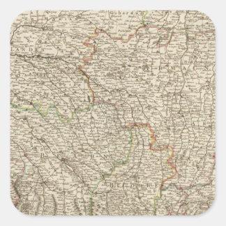 Frankriken 49 fyrkantigt klistermärke