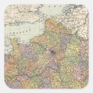 Frankriken 6 fyrkantigt klistermärke