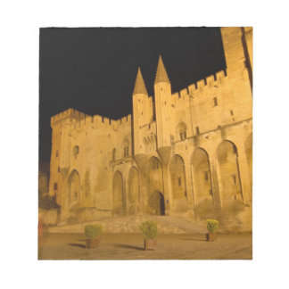 Frankriken Avignon, Provence, påvlig slott på natt Anteckningsblock