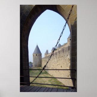 Frankriken - Carcassonne - nyckeln överbryggar Poster