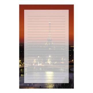 Frankriken den Paris solnedgången beskådar av det Brevpapper