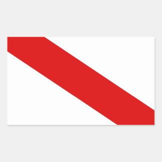 frankriken för strasbourg stadsflagga rektangulärt klistermärke