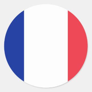 Frankriken FR Runt Klistermärke