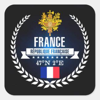 Frankriken Fyrkantigt Klistermärke