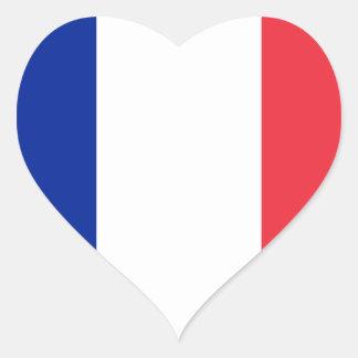 frankriken hjärtformat klistermärke