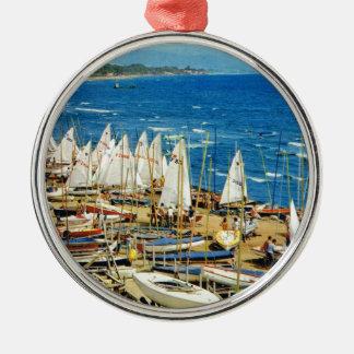 Frankriken, Hyeres, Var, port och Marina Julgransprydnad Metall