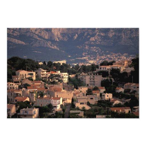 Frankriken Marseille, Provence. Sydliga förorter Foto