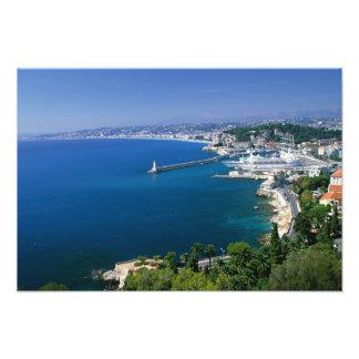 Frankriken Nice, antenn beskådar av porten Fototryck