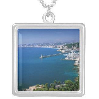 Frankriken Nice, antenn beskådar av porten Silverpläterat Halsband