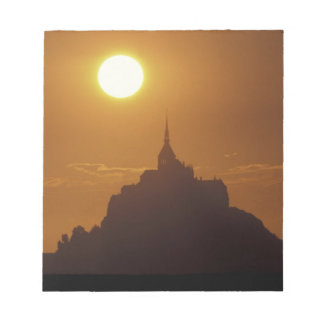 Frankriken Normandy. Mont Sanktt Michele Anteckningsblock