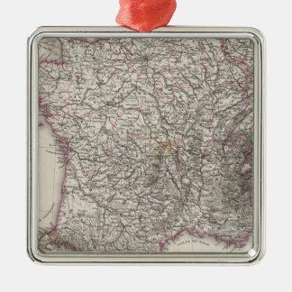 Frankriken och Schweitz Julgransprydnad Metall