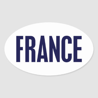 Frankriken Ovalt Klistermärke
