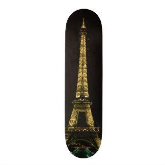 Frankriken Paris. Eiffel torn på natten med Skateboard Bräda 19,5 Cm