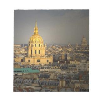 Frankriken Paris. Les Invalides som ses från Anteckningsblock