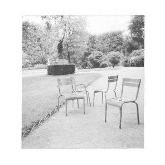 FRANKRIKEN Paris: Luxembourg trädgårdstaty av Anteckningsblock