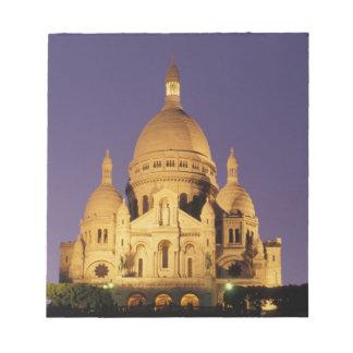 Frankriken Paris, Sacré-Coeur på dusk. Anteckningsblock