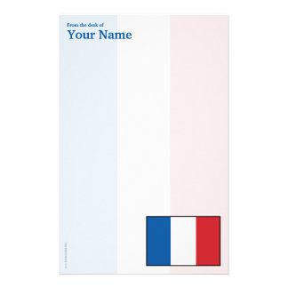Frankriken plattar till flagga brevpapper