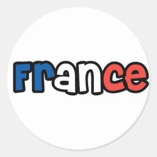 Frankriken Runt Klistermärke