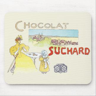 Fransk advertizing för chokladvintagekonst mus matta