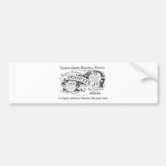 fransk advertizingtypografi för vintage bildekal