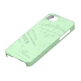 Fransk affärslogotyper för vintage iPhone 5 Case-Mate cases