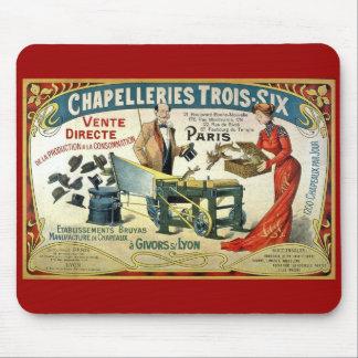 Fransk annons för vintage - Chapelleries1890 Musmatta