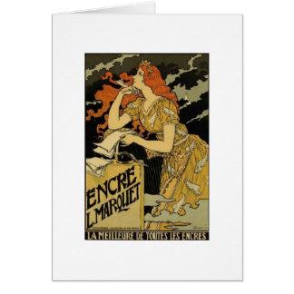 Fransk art nouveau hälsningskort